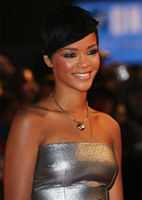 Dramatic Celebrity Hair Makeovers | After: Rihanna
