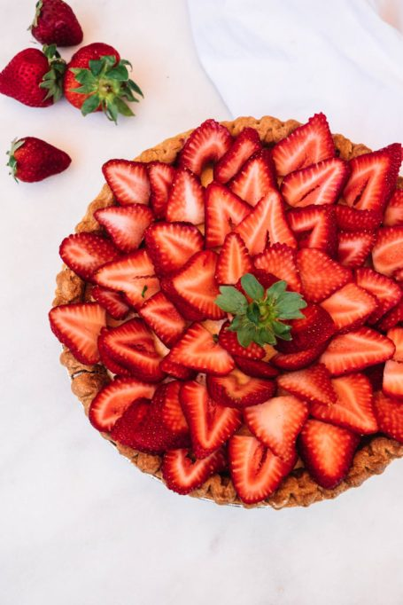 Strawberry Tart with Queso Fresco