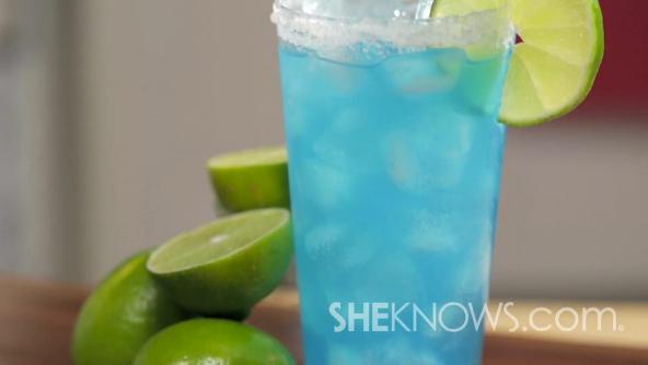 Blue kamikaze cocktail