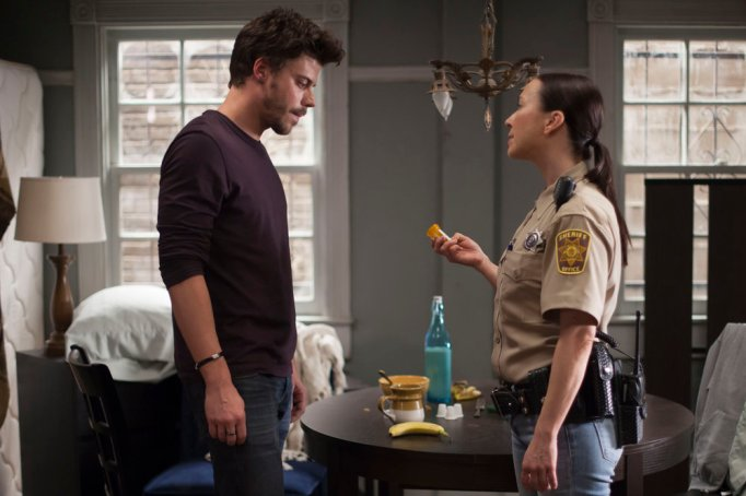 Lora Martinez-Cunningham and François Arnaud in 'Midnight, Texas'