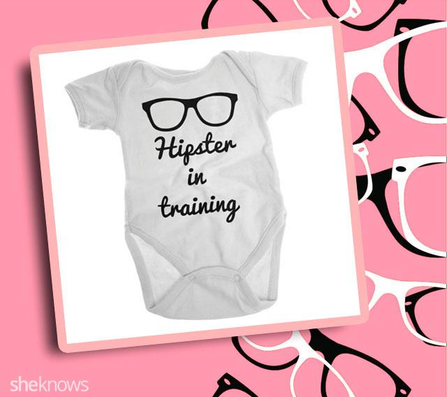 Hipster in training onesie