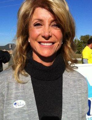 Wendy Davis' sneakers are now a