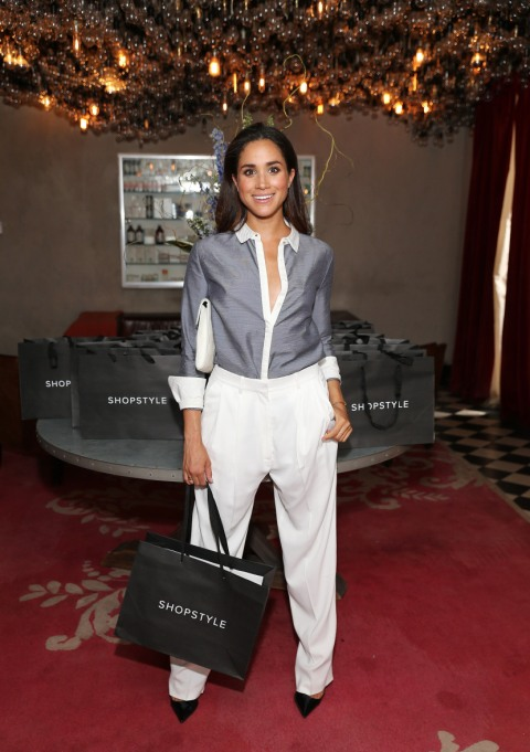 Meghan Markle's Most Fashionable Outfits | Attending an exclusive preview of the Marchesa Voyage for ShopStyle collection