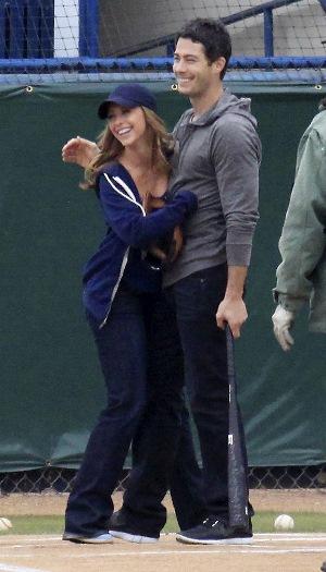 Pregnant Jennifer Love Hewitt and Brian Hallisay