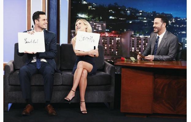 Lauren Bushnell and Ben Higgins on Jimmy Kimmel