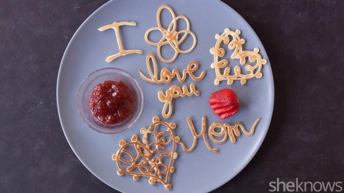 Pancake love notes are a super-cute