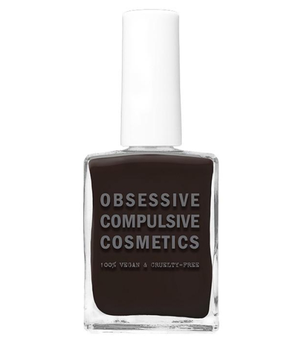 Coolest Nail Colors to Try This Fall: Obsessive Compulsive Cosmetics Nail Lacquer in Darkest Chocolate Brown | Fall Style Trend 2017
