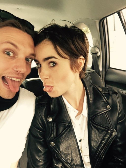 Lily Collins and Jamie Campbell Bower twitter picture