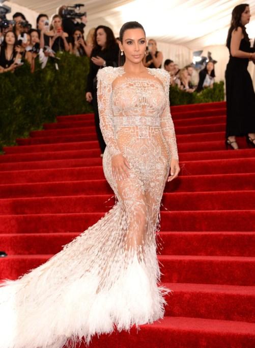 Kim Kardashian's Most Naked Looks: MET Gala 2015| Kim Kardashian Fashion