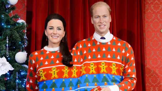 Kate Middleton & Prince William wax figure holiday