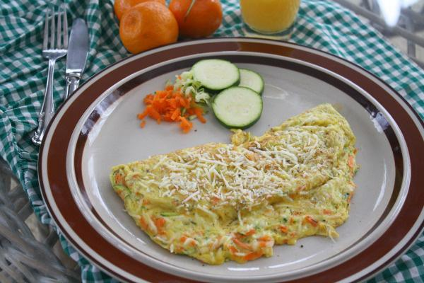 Gluten-free Friday: Zucchini and carrot omelet