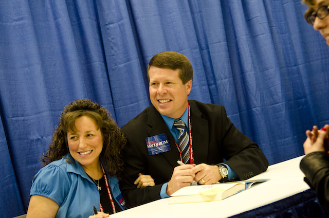 Michelle Duggar and Jim Bob Duggar promote their book 'A Love That Multiplies' during the Conservative Political Action Conference at the Marriott Wardman Park
