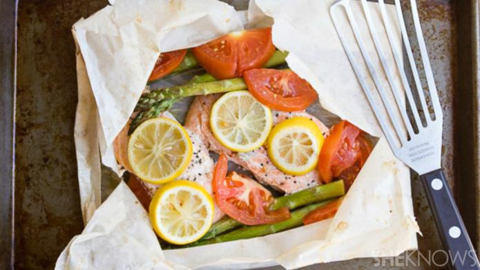 A romantic meal in minutes: Salmon
