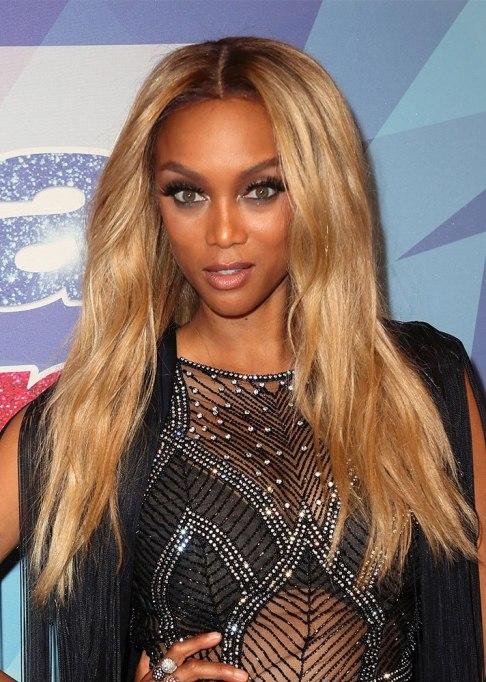 Tyra Banks Long Blonde Hair