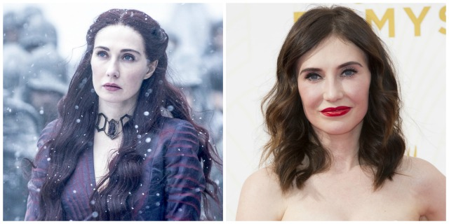 These 'Game of Thrones' characters look totally different in real life: Melisandre vs. Carice Van Houten