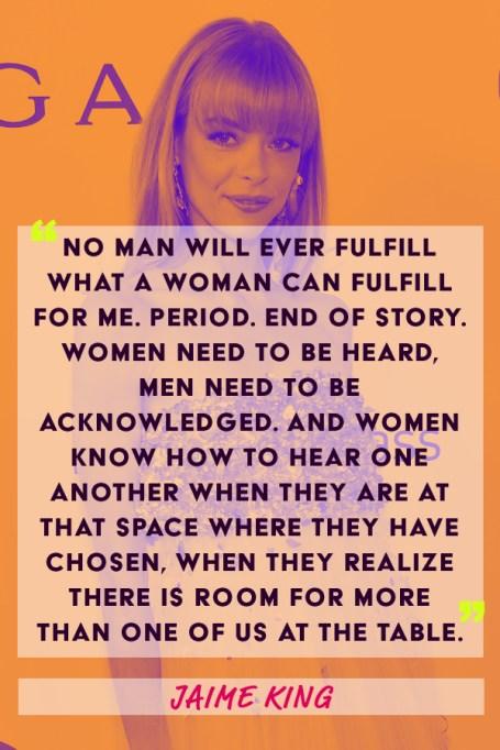 Jaime King feminism quote