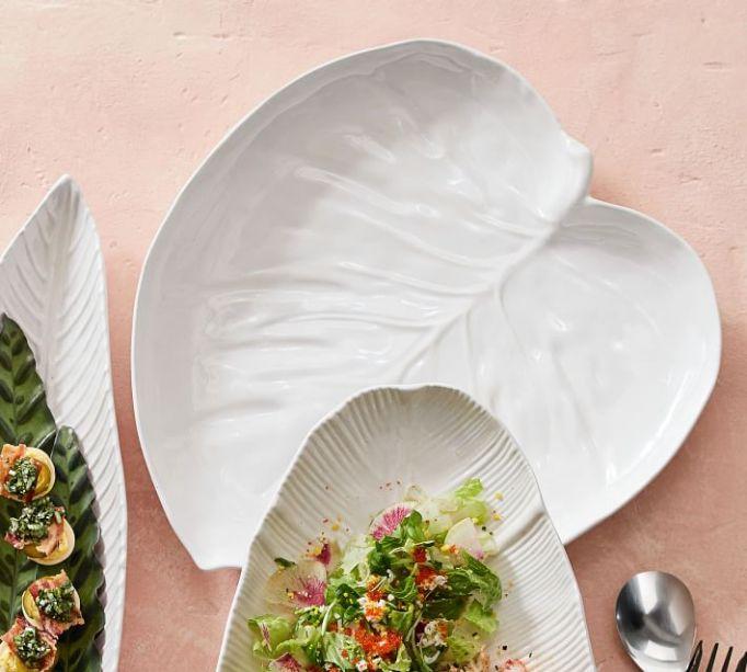 Philodendron Leaf Melamine Platter