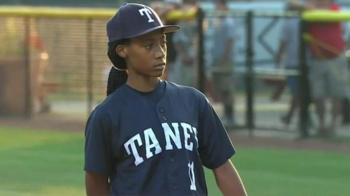 13-Year-old girl with a 70-mph fastball