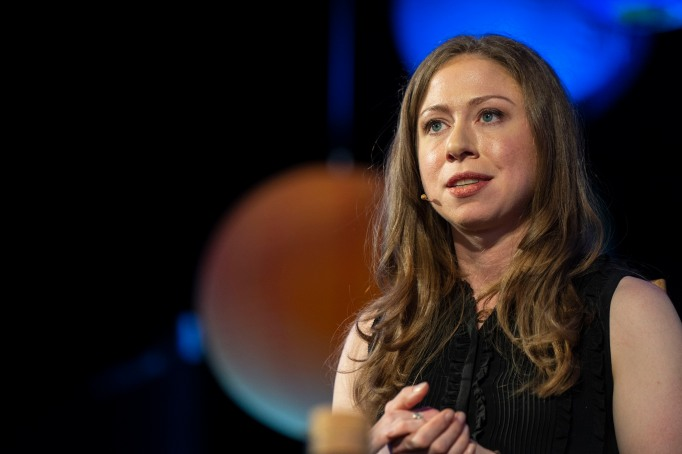 Chelsea Clinton on stage