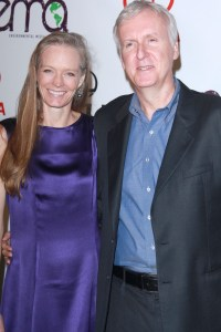 James Cameron and his wife