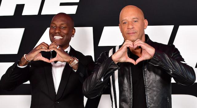 Vin Diesel Tyrese Fate Furious Premiere