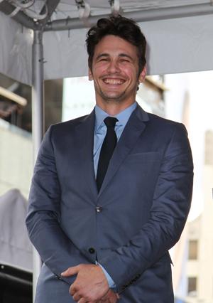 James Franco grinning