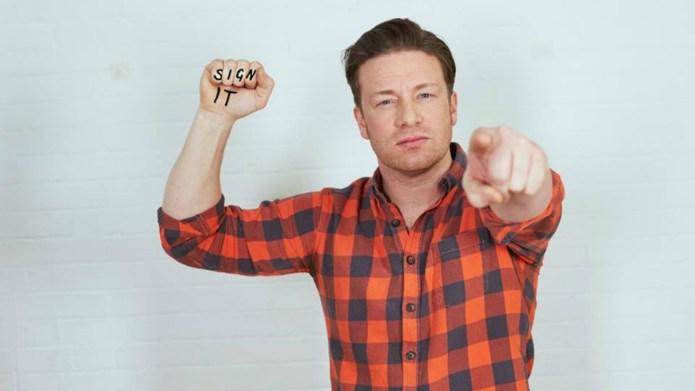 Jamie Oliver enlists celebrity pals for