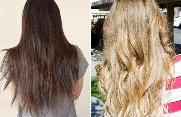 Hair column: Successfully go from dark