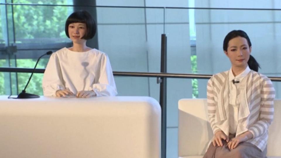 """Japanese create """"eerily lifelike"""" robot women"""