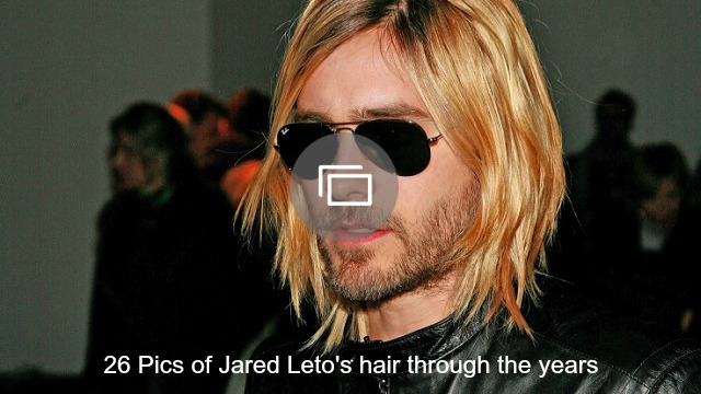 Jared Leto's hair slideshow