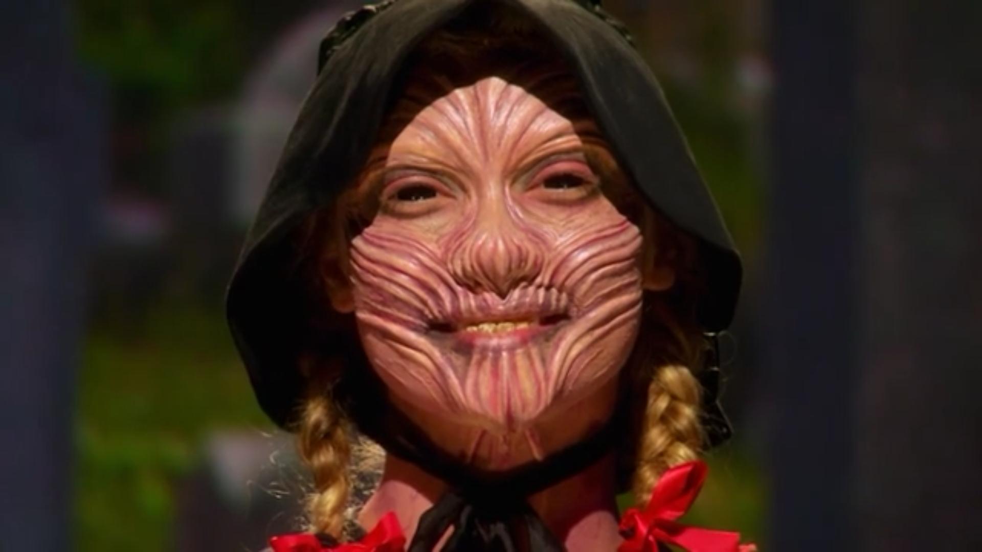A close look at Jason Henricks' finished makeup