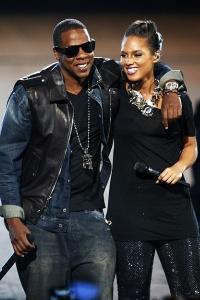 Jay Z and Alicia Keyes