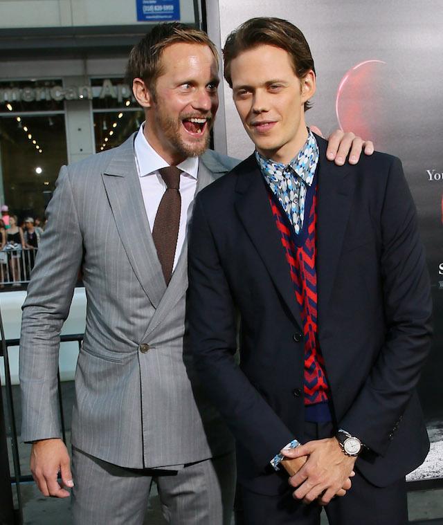 Skarsgards It Premiere Alex and Bill 2