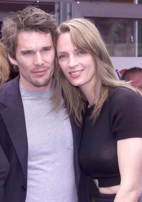 Ethan Hawke and Uma Thurman 2001