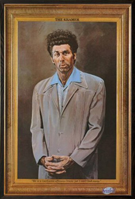 Quirkiest Gifts from Your Favorite Pop Culture Shows: Framed Kramer poster