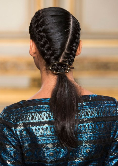 Double-Braided Low Ponytail