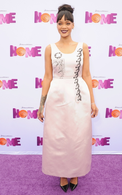 Rihanna at the Home premiere