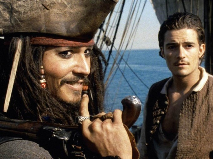 Johnny Depp Orlando Bloom Pirates Of The Caribbean