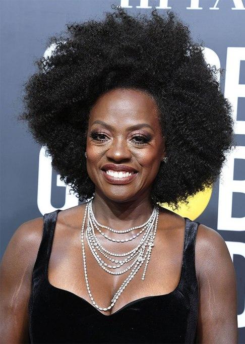 Viola Davis Afro