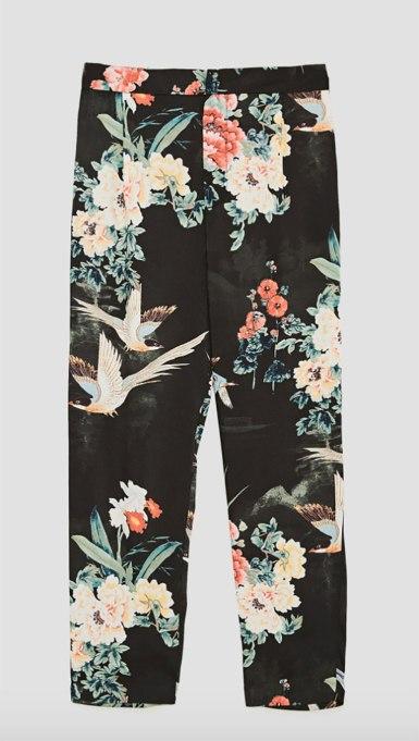 Ways To Wear Graphic Prints: Bird Pants at Zara | Fall Fashion