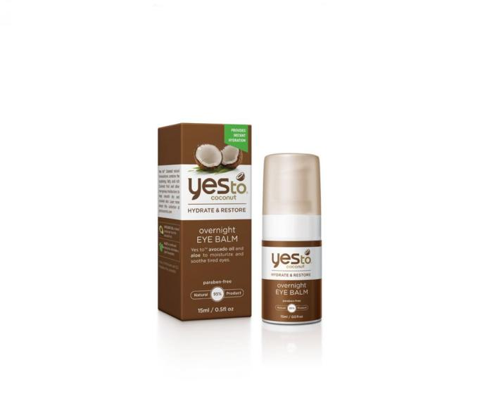 Best Coconut-Oil Beauty Products to Try Today: Yes To Coconut Ultra Hydrating Overnight Eye Balm | Summer body care 2017