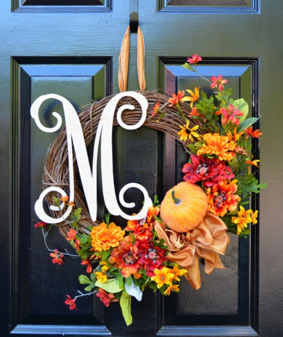 Etsy Decorating Trends: Cashmere Fall Wreath | Fall Decor