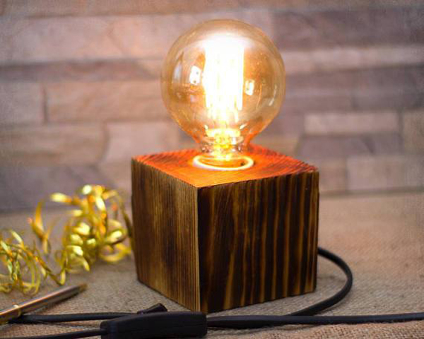 Etsy Decorating Trends: Wood Lamp | Fall Decor