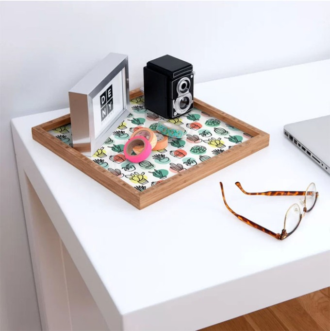 East Urban Home Summer Days Cactus Tray