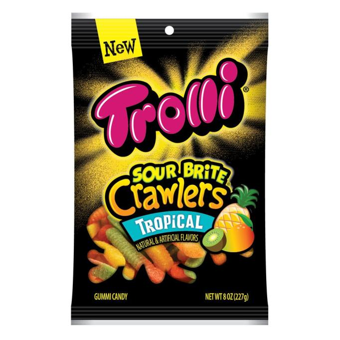Trolli Sour Brite Crawlers in tropical flavor