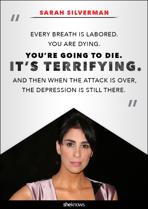 Sarah Silverman anxiety quote