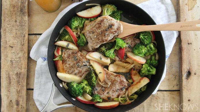 20-Minute one-skillet seared cider pork with