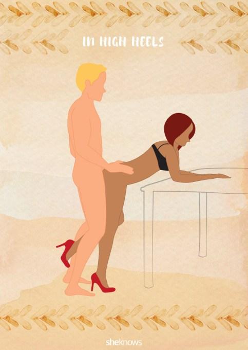 High heels sex position illustration