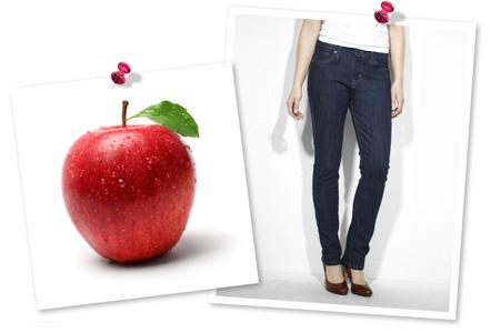 Apple-shaped
