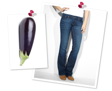 Upside-down eggplant-shaped